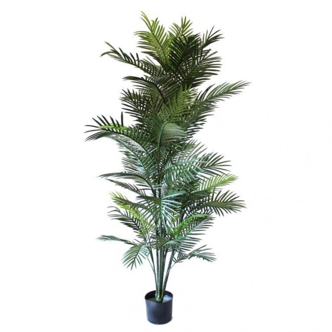 NWTURF ARTIFICIAL ARECA PALM 1.8M WITH 57 UV RESISTANT PLASTIC LEAVES.