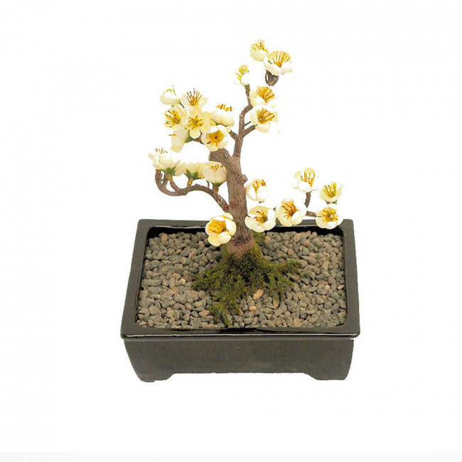 NWTURF Artificial BONSAI BLOSSOM 15CM POTTED Indoor Outdoor Plastic Plant
