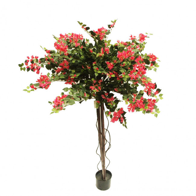NWTURF ARTIFICIAL BOUGAINVILLEA TREE FUCHSIA 1.8M WITH 2688 LEAVES AND 946 FLOWERS
