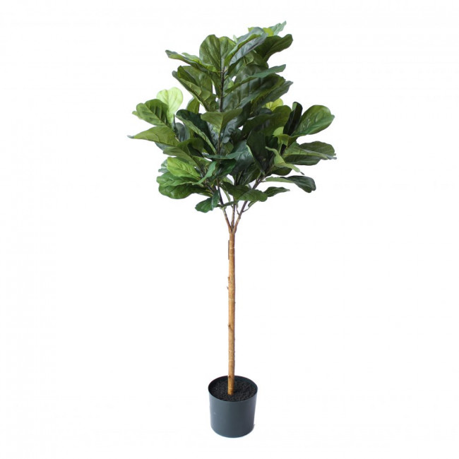 NWTURF ARTIFICIAL FIDDLE LEAF FIG TREE 1.5M WITH 89 LARGE LEAVES OUTDOOR PLASTIC PLANT