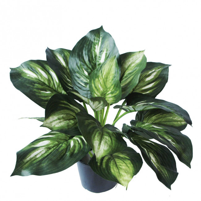 NWTurf ARTIFICIAL HOSTA PLANT 45CM  WITH 18 LEAVES