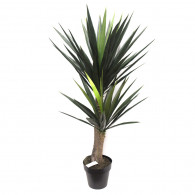NWTURF Artificial YUCCA TREE 1.2M WITH 65 LEAVES Indoor Outdoor Plastic Plant