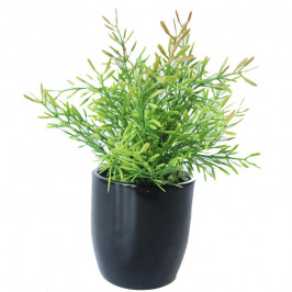 NWTURF ARTIFICIAL TWO TONE BUSH 30CM COMPLETE IN FIBREGLASS POT