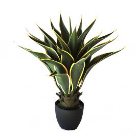 ARTIFICIAL AGAVE AMERICANA VARIEGATED 60CM UV STABILISED