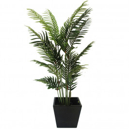 NWTURF Artificial Areca palm 1.5M with 18 stems and basic black pot.