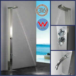 Bondi  316 Marine Grade WATERMARK REGISTERED Stainless Steel Outdoor Indoor Shower