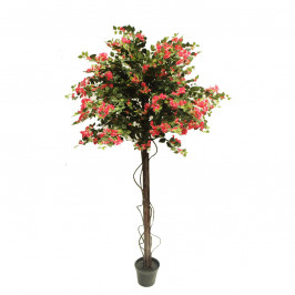 NWTURF ARTIFICIAL BOUGAINVILLEA TREE FUCHSIA 2.4M WITH 3960 LEAVES AND 1372 FLOWERS