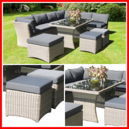 5 PIECE WICKER OUTDOOR SETTING! BRIGH