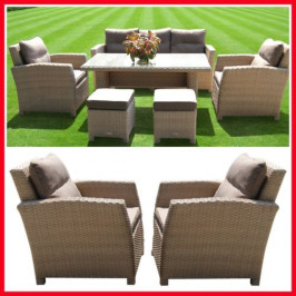 6 PIECE WICKER OUTDOOR SETTING!