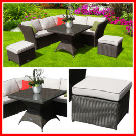 NEW! BEAUTIFUL 4 PIECE WICKER OUTDOOR SETTING! HAMP
