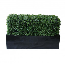 NWTURF PREMIUM DELUXE BOXWOOD HEDGE 120 WIDE X 75CM TALL WITH FIBREGLASS TROUGH