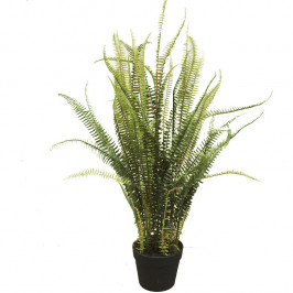 NWTURF ARTIFICIAL MOUNTAIN FERN 90CM IN BLACK POT