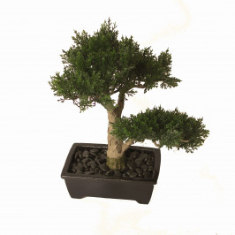 NWTURF ARTIFICIAL BONSAI CONIFER 38CM POTTED