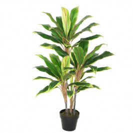 NWTURF ARTIFICIAL DRACENA PLANT VARIEGATED 105CM 50 LEAVES